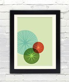 Mid Century Modern Bike Art Print //  Free by FatEyeDesign on Etsy, $23.00