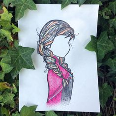 Image result for anna zentangle hair