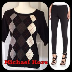 Michael Kors Sweater Michael Kors Short Sleeve Sweater. Gently Used. Excellent Condition. 🚫 No Pay Pal 🚫 No Trades 🚫 Michael Kors Sweaters