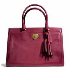 "Legacy Leather Large Chelsea Carryall - $398 25365 B4/BTQ Dimensions = 14""(l) x 10""(h) x 5.75""(w)"