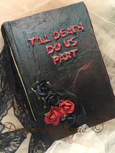 Gothic Till death do us part wedding sign in guest by cuteNtrendy