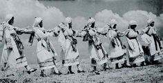 """Chios, Kalamoti Bridal costumes Dancing in Chios From """"Folk Music of Greece"""" (published Smithsonian Center for Folklife and Cultural Heritage. Photo by Nelly's. Folk Costume, Costumes, Chios, Cultural Diversity, Folk Music, National Museum, Good Old, Folklore, Culture"""