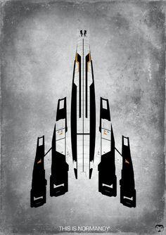Mass Effect - This Is Normandy Ship Fan Art - 16 x 23 Poster Print