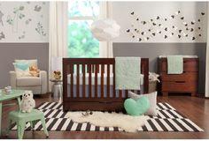 Babyletto 2 Piece Nursery Set - Mercer 3 in 1 Convertible Crib and 3 Drawer Dresser/Changer in Espresso Wood Crib, Modern Crib, Crib Sets, Convertible Crib, Crib Mattress, Nursery Furniture, Furniture Outlet, Baby Cribs, Sustainable Design
