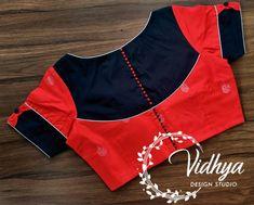 Patch Work Blouse Designs, Fancy Blouse Designs, Saree Blouse Neck Designs, Dress Neck Designs, Fashion Blouses, Designer Blouse Patterns, Blouse Models, Saree Dress, Blouse Styles