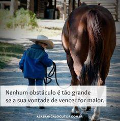 """""""Nenhum obstáculo é tão grande se a sua vontade de vencer for maior"""""""