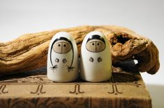 Arabia Finland Eskimo Salt and Pepper shakers.  $80.00