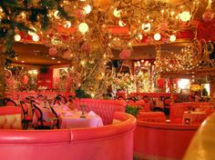 The Madonna Inn in San Luis Obispo. Stayed here for a week when my aunt and uncle got married. Each room has it's own theme. Fun times!