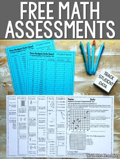 Looking for free math beginning of the year benchmark tests to assess student knowledge? Collect data on your students so you can provide math intervention throughout the year! Perfect for grade math, grade math, and grade math. Fourth Grade Math, Second Grade Math, Math Test, Math Math, Math Literacy, Math Fractions, Math Games, Math Assessment, Math Intervention