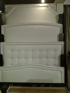 Upholstered headboard shapes - I definitely want to make one. These are a great project to DIY! - Second from the bottom but I think I'm going to round the corners.
