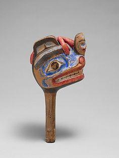 Rattle :Native American (Skittagetan or Haida)