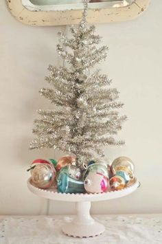 Tree with grandma's ornaments