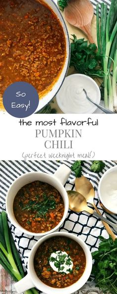 This is the BEST pumpkin chili I have ever made! Super flavorful and so simple to make!! A perfect weeknight meal! #pumpkinchili #chili #weeknightmeals #paleooptional #oursavorylife #brimckoy Pumpkin Beer, Pumpkin Chili, Canned Pumpkin, Pumpkin Puree, Recipes Using Ground Turkey, Healthy Weeknight Meals, Chili Recipes, Pumpkin Recipes, Dairy Free Recipes