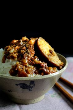 TAIWAN PORK RAGU ON RICE - LU ROU FAN