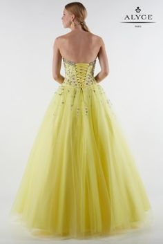 Our Spring 2017 Formal Dresses collection features some of our most stunning gowns, beautiful for any type of special occasion. Strapless Dress Formal, Prom Dresses, Formal Dresses, Mellow Yellow, Fitted Bodice, Dress Collection, Ball Gowns, Tulle, Lace