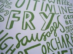 Close up of Word Map