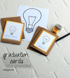 graduation cards (free printables) | NoBiggie.net
