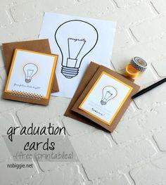 graduation cards (free printables) | NoBiggie.net