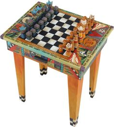 http://mein-neustes-werk.blogspot.com/  Game Table w/drawer  Made by Sticks of Des Moines, IA