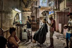 A barber shop in Old Havana, Cuba, December 2015. Photo by Tomas Munita for The New York Times
