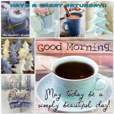 Good Morning Have A Blessed Day Quote With Flower Good Morning Greetings, Good Morning Good Night, Good Morning Quotes, Collages, I Love Coffee, My Coffee, Coffee Club, Coffee Time, Beautiful Collage