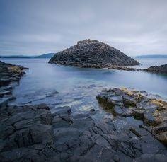 Basalt columns at Fingal's cave on the isle of staffa