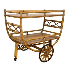 1stdibs.com | Rattan Serving/Tea Cart