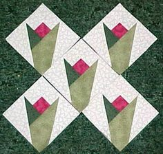 Free paper piecing quilt block patterns