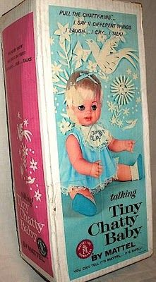 Tiny Chatty Baby By Mattel Toys 1962