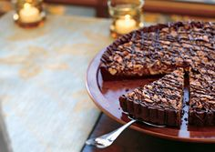Cashew-Coconut Tart in Chocolate Crust - Bon Appétit