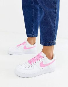 low priced 5f1ed 67d56 Nike White And Pink Air Force 1 trainers Air Force 1, Nike Air Force,