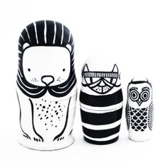 Set of 3 Nesting Dolls by Wee Gallery at Molly-Meg