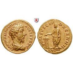 Römische Kaiserzeit, Marcus Aurelius, Aureus 171, vz: Marcus Aurelius 161-180. Aureus 20 mm 171 Rom. Drapierte und gepanzerte Büste… #coins