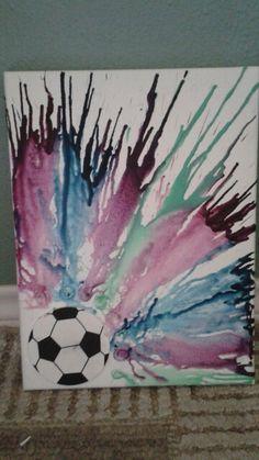 Soccer crayon melting
