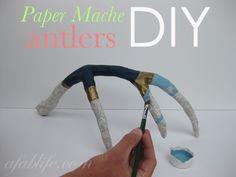 Paper Mache Antler DIY | A Fab Life