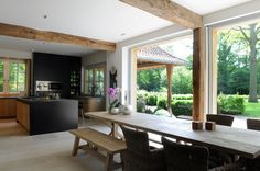 Incredible open plan kitchen/dining/outdoor space