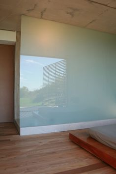 Reflection on back painted glass…bringing the outdoors in
