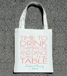 Time To Drink Champagne & Dance On Table Custom Totes by ilulily