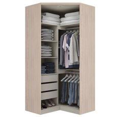 Corner Wardrobe Closet, Wardrobe Wall, Make A Closet, Wardrobe Design Bedroom, Small Wardrobe, Wardrobe Storage, Built In Wardrobe, Closet Bedroom, Small Closet Space