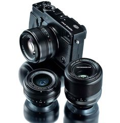 Fujifilm's X-Pro1 mirrorless camera isn't official but you can already pre-order a trio of lenses for Fujifilm's first mirrorless camera — the same three lenses leaked by the French magazine Réponses Photo. Both the Fujifilm 35mm f/1.4 and 18mm f/2.0 lenses are listed for $499.95 on Amazon, with the 60mm f/2.4 macro offered for $599.95.