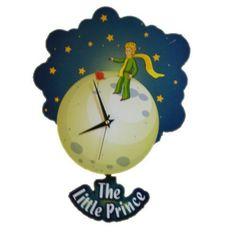 Küçük Prens - Sallanan Sarkaçlı Duvar Saati