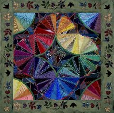 Memory Quilt from Ties by Stephanie Novatski as seen at CQMagOnline