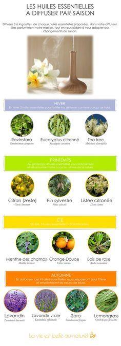 Les huiles essentielles à diffuser par saison