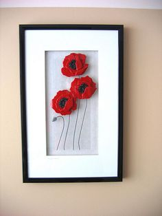 "Poppy panels continue to be my best seller. Sold these to a customer last month and fell in love with them, so made a similar panel for us.  ; )  14"" X 22"""