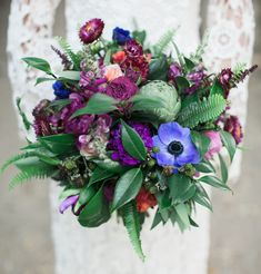 Lush boho bouquet with fall colors