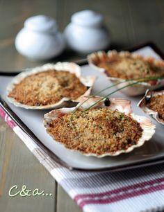 Cucinando e assaggiando...: Capesante gratinate al cocco