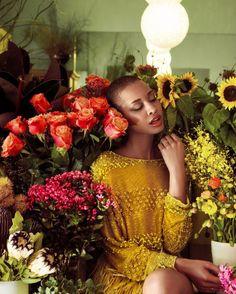 Lucy Blay. Jute Magazine. Images by Kay Sukumar.| Bald girl, bald black girl stylin', makeup, big chop, twa inspiration.