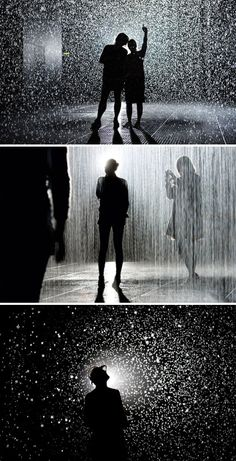 RAIN ROOM - MoMA -- One of the coolest things I've ever seen. I have got to go there