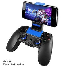 PowerLead Manette de jeu sans fil parfait Compatibilité de manette de jeu sans fil pour IOS et Android System et PC win 7/10- Jeu directm
