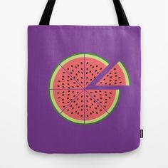 Watermelon Pizza Tote Bag by Javier Perez Estrella - $22.00 - #Wishlist